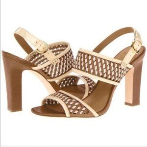 AERIN Toiny Camel Leather Sandals